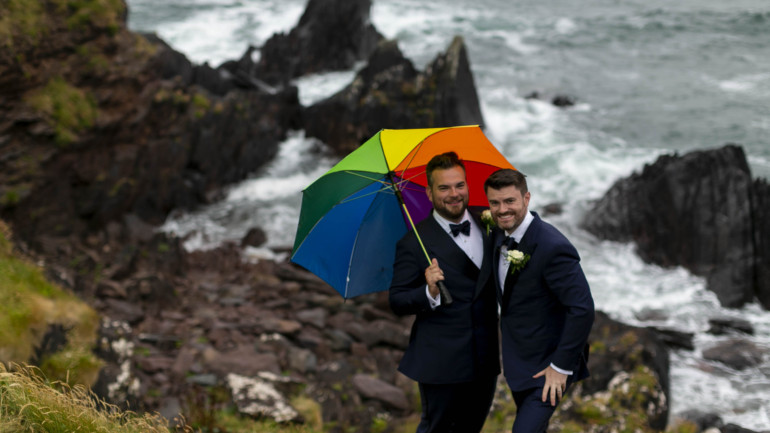 A dream day at the Dingle Skellig Hotel for Johnny and Michael