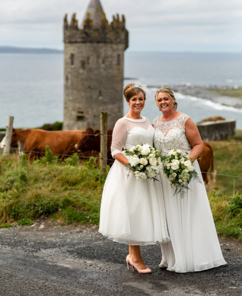 A delightful day in Doolin for Colma and Jennifer