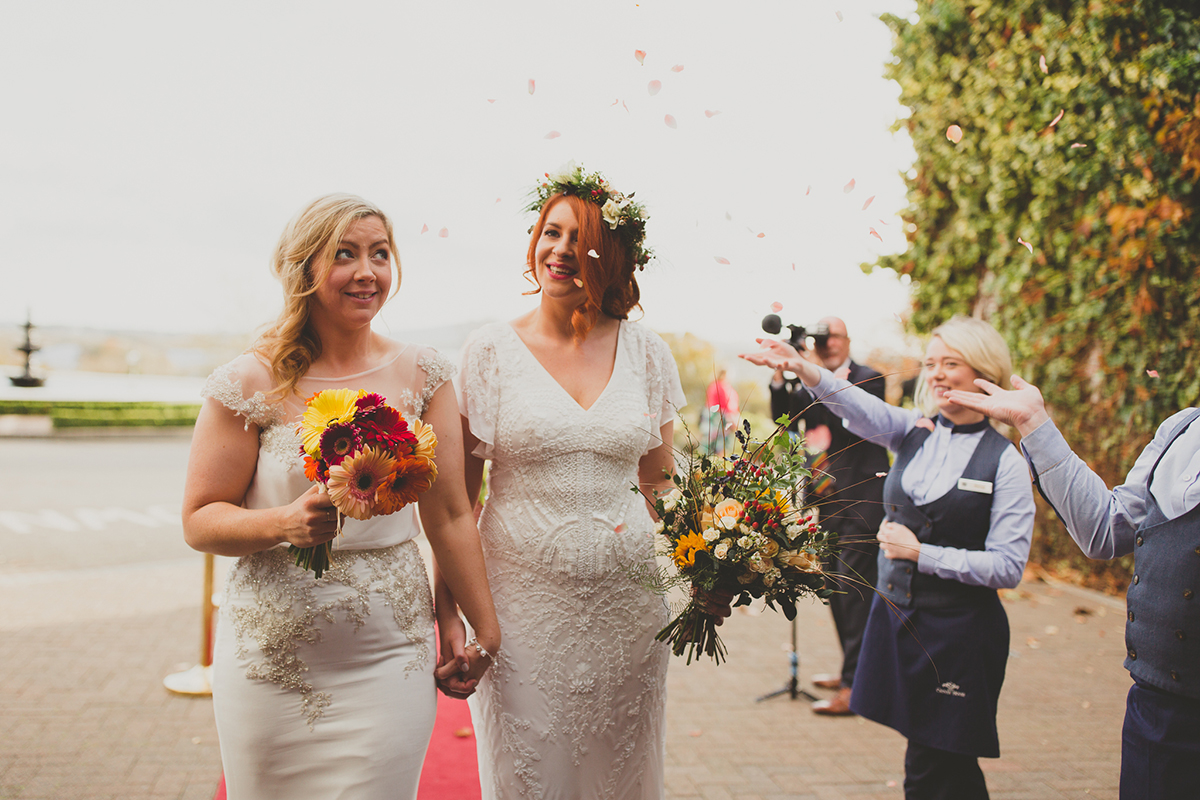 Lynn and Olivia's Enchanting Autumnal Wedding