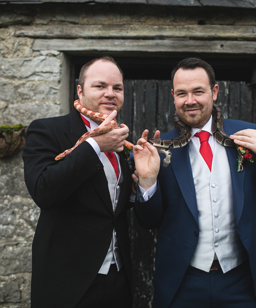 A wedding full of personality for Ben and Liam