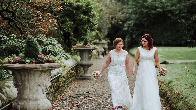 JEN AND CLARE'S CHIC WINTER WEDDING
