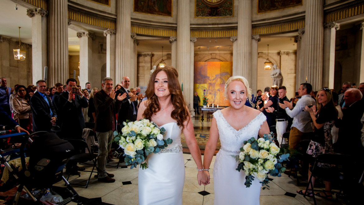 A perfect proposal leads to a perfect wedding at The Morrison Hotel for Lynne and Sarah