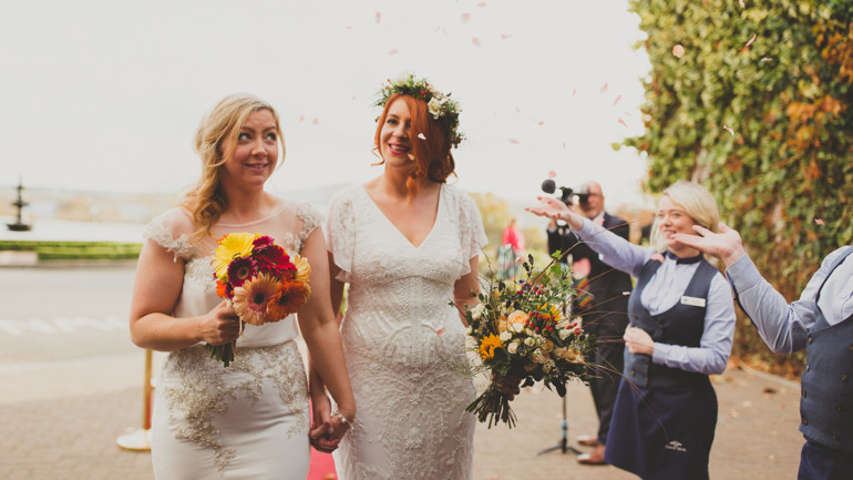 Lynn and Olivia's Enchanting Autumnal Wedding